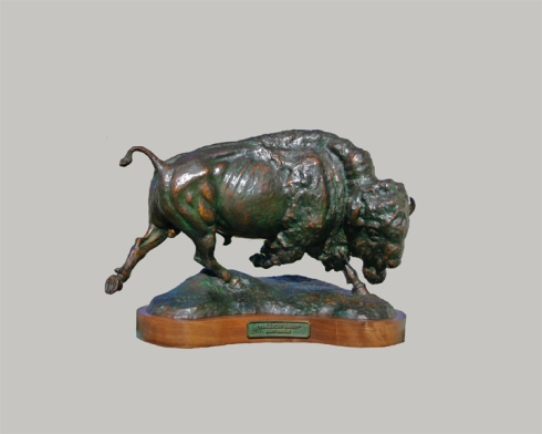 "American Bison (maquette ) 11 3/4"" High"