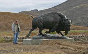 "American Bison (6' 9"" bronze / Edition of 10)"