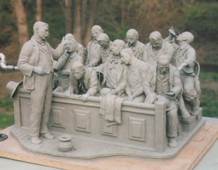"""Gentlemen of the Jury..."" (shown in clay)"