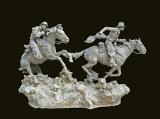 "Hashknife Pony Express (clay) 19"" High x 31"" Wide"