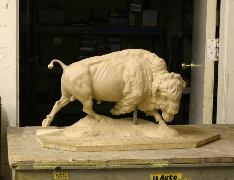 """American Bison (maquette 10"""" high)"""