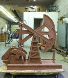 Pump Jack Sculpture - 4 ft high - Not for sale