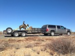 Trail Boss on his way to his Arizonahome.
