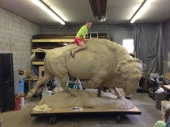 "Sculpture in Progress / ""Emily and the Buffalo"""