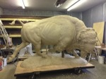 American Bison - Monument 7ft tall